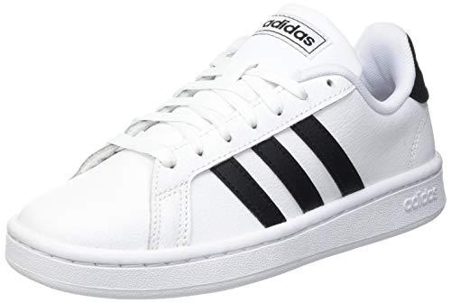 1769 1 adidas mens grand court sneake | adidas Mens Grand Court Sneaker, Cloud White/Core Black/Cloud White, 42 EU