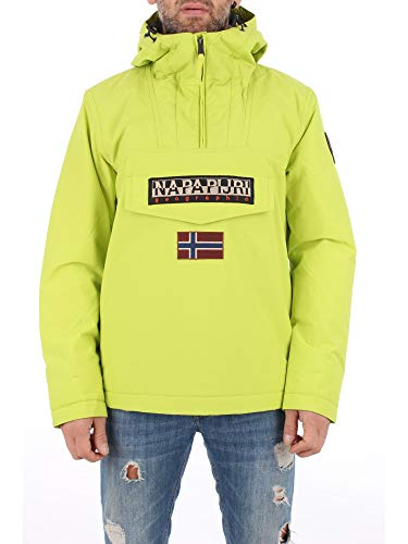 1857 1 napapijri herren rainforest wi | Napapijri Herren Rainforest Winter 1 Jacke, Gelb (Yellow Lime YA2), (Herstellergröße:L)