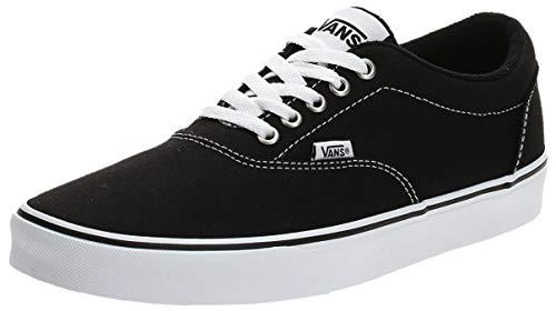 2070 1 vans herren doheny sneaker sc | Vans Herren Doheny Sneaker, Schwarz ((Canvas) Black/White 187), 42 EU