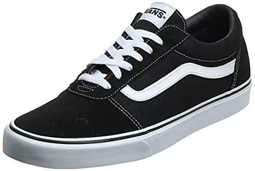 2073 1 vans herren ward suede canvas   Vans Herren Ward Suede/Canvas Sneaker, Schwarz ((Suede/Canvas- Black/White), 47 EU