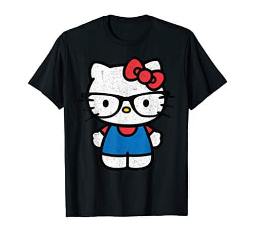 2287 1 hello kitty nerd t shirt | Hello Kitty Nerd T-Shirt