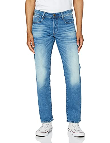2345 1 g star raw herren 3301 straigh | G-STAR RAW Herren 3301 Straight Jeans, Blau (Authentic Faded Blue B631-A817), 34W / 34L