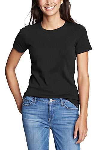 2409 1 eddie bauer damen favorite shi   Eddie Bauer Damen Favorite Shirt - Kurzarm mit Rundhalsausschnitt, Gr. S (34/36), Schwarz