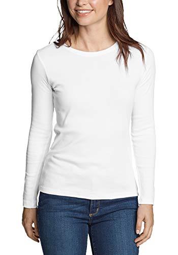 2410 1 eddie bauer damen favorite shi   Eddie Bauer Damen Favorite Shirt - Langarm mit Rundhalsausschnitt, Gr. M (38/40), Weiß