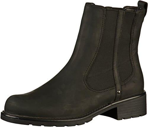 2502 1 clarks damen orinoco club kurz | Clarks Damen Orinoco Club Kurzschaft Stiefel, Schwarz (Black Leather), 41 EU