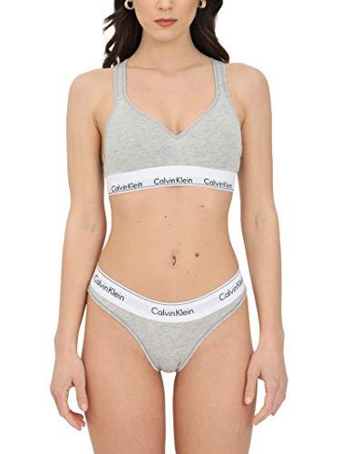 2524 1 calvin klein damen bustier bra | Calvin Klein Damen Bustier Bralette Lift BH, Grau (Grey Heather 020), M