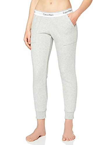 2526 1 calvin klein damen bottom pant | Calvin Klein Damen Bottom Pant Jogger Sporthose, Grau (Grey Heather 020), W(Herstellergröße: S)