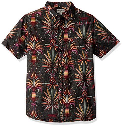 2609 1 billabong jungen sundays flora   BILLABONG Jungen Sundays Floral Short Sleeve Shirt Button Down Hemd, schwarz, XL