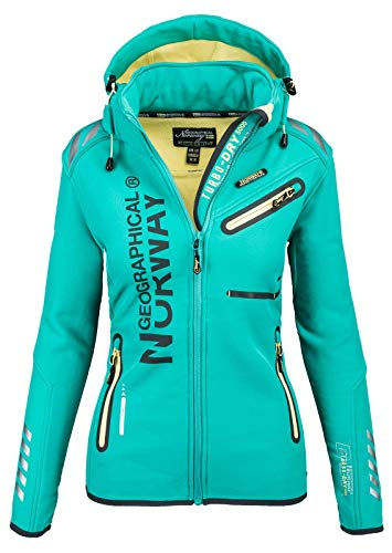 2663 1 geographical norway damen soft | Geographical Norway Damen Softshell Funktions Outdoor Regen Jacke Sport [GeNo-24-Grün-Gr.XL]