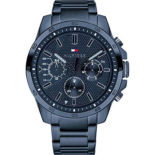 2787 1 tommy hilfiger herren multi zi | Tommy Hilfiger Herren Multi Zifferblatt Quarz Uhr mit Edelstahl Armband 1791560