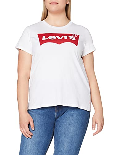 2965 1 levis damen t shirt the perf | Levi's Damen T-Shirt, The Perfect Tee, Weiß (Batwing White Graphic 53), Gr. L