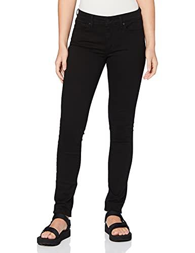 3013 1 levis damen 711 skinny jeans   Levi's Damen 711 Skinny Jeans, Schwarz (Black Sheen 0052), 30W / 32L