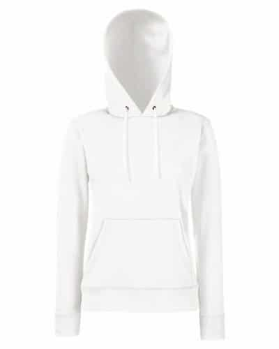 3235 1 fruit of the loom classic hood | Fruit of the Loom Classic Hooded Sweat Lady-Fit - Farbe: White - Größe: L