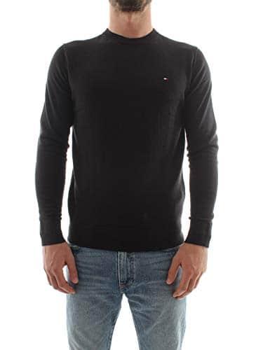 3276 1 tommy hilfiger herren core cot | Tommy Hilfiger Herren CORE Cotton-Silk CNECK Pullover, Schwarz (Flag Black 032), XX-Large