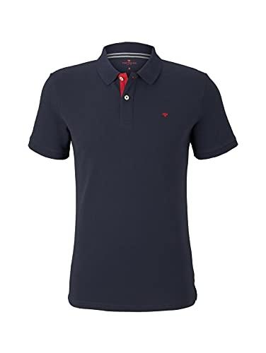 3444 1 tom tailor herren poloshirts b | TOM TAILOR Herren Poloshirts Basic Poloshirt Sky Captain Blue,XL