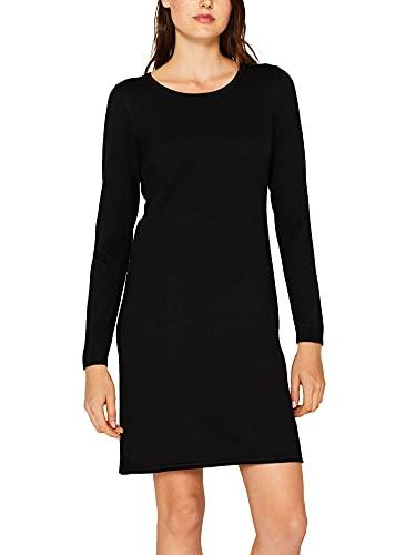3605 1 edc by esprit damen 999cc1e800   edc by ESPRIT Damen 999Cc1E800 Kleid, Schwarz (Black 001), Large (Herstellergröße: L)