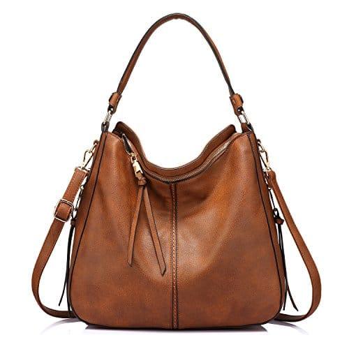 3655 1 handtaschen damen lederimitat   Handtaschen Damen Lederimitat Umhängetasche Designer Taschen Hobo Taschen groß Mit Quasten Braun