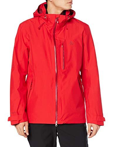 3750 1 schoeffel jacket padon m wass   Schöffel Jacket Padon M, wasserdichte und winddichte Regenjacke, atmungsaktive Outdoor Jacke mit ZipIn! Funktion Herren, high risk red, 54
