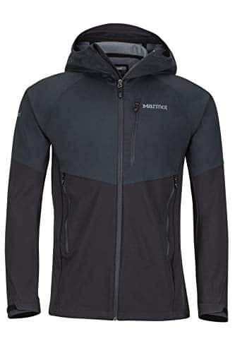 3752 1 marmot men rom jacket softshel | Marmot Men ROM Jacket Softshelljacke, Funktions Outdoor Jacke, Wasserabweisend, Black, L