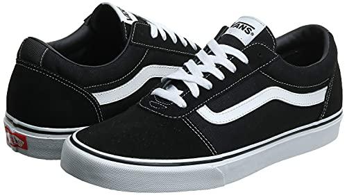 2073 2 vans herren ward suede canvas   Vans Herren Ward Suede/Canvas Sneaker, Schwarz ((Suede/Canvas- Black/White), 47 EU
