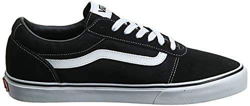 2073 4 vans herren ward suede canvas   Vans Herren Ward Suede/Canvas Sneaker, Schwarz ((Suede/Canvas- Black/White), 47 EU