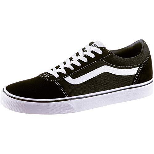 2073 6 vans herren ward suede canvas   Vans Herren Ward Suede/Canvas Sneaker, Schwarz ((Suede/Canvas- Black/White), 47 EU