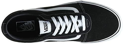 2073 7 vans herren ward suede canvas   Vans Herren Ward Suede/Canvas Sneaker, Schwarz ((Suede/Canvas- Black/White), 47 EU