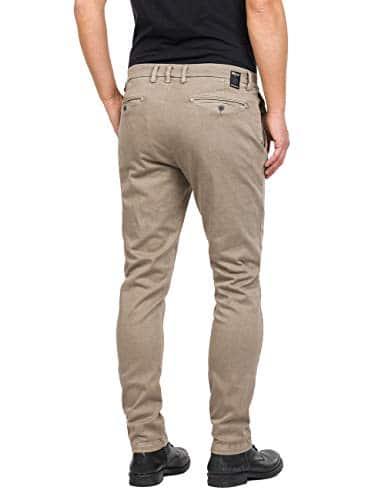 2165 2 replay herren zeumar slim jean | Replay Herren ZEUMAR Slim Jeans, Beige (Sand 20), W32/L32
