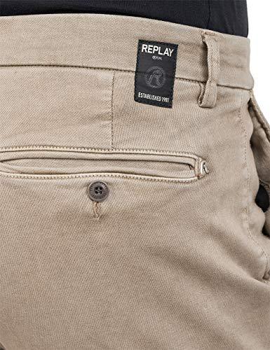 2165 5 replay herren zeumar slim jean | Replay Herren ZEUMAR Slim Jeans, Beige (Sand 20), W32/L32