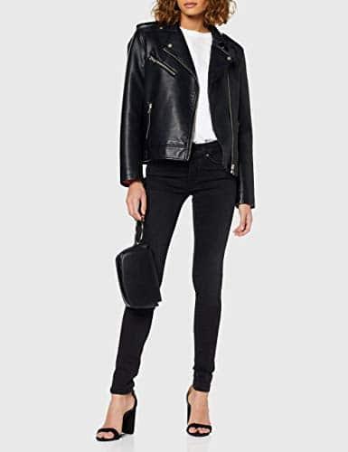 2166 3 replay damen new luz | Replay Damen New Luz Hyperflex Clouds Jeans, Schwarz (Black 098), W25/L32 (Herstellergröße: 25)