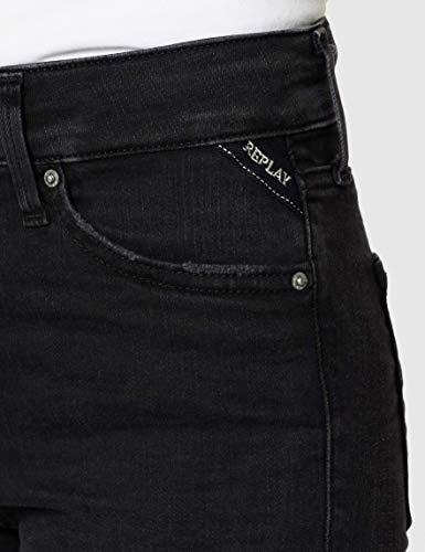 2166 4 replay damen new luz   Replay Damen New Luz Hyperflex Clouds Jeans, Schwarz (Black 098), W25/L32 (Herstellergröße: 25)