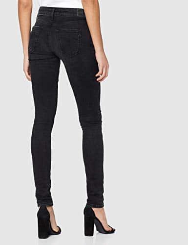 2166 5 replay damen new luz | Replay Damen New Luz Hyperflex Clouds Jeans, Schwarz (Black 098), W25/L32 (Herstellergröße: 25)