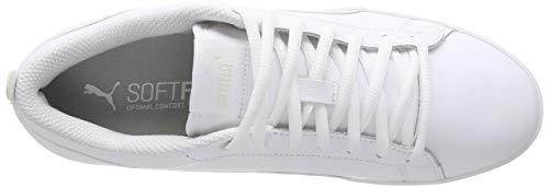 2194 5 puma damen smash wns v2 l zapa   PUMA Damen Smash WNS v2 L Zapatillas, Weiß White White, 38 EU