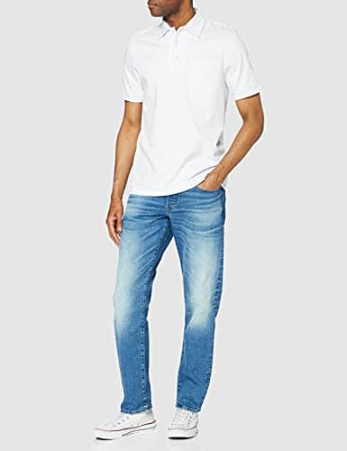 2345 2 g star raw herren 3301 straigh | G-STAR RAW Herren 3301 Straight Jeans, Blau (Authentic Faded Blue B631-A817), 34W / 34L