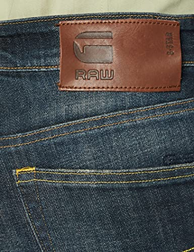 2345 3 g star raw herren 3301 straigh | G-STAR RAW Herren 3301 Straight Jeans, Blau (Authentic Faded Blue B631-A817), 34W / 34L