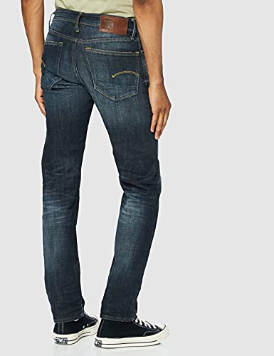 2345 4 g star raw herren 3301 straigh | G-STAR RAW Herren 3301 Straight Jeans, Blau (Authentic Faded Blue B631-A817), 34W / 34L