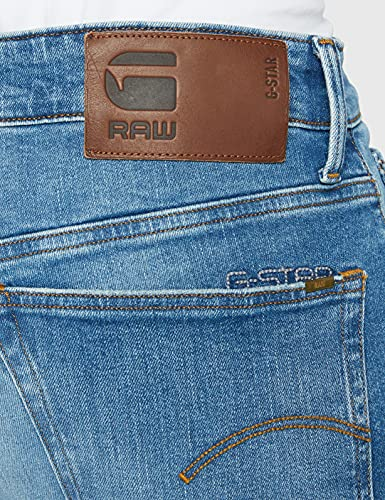 2345 5 g star raw herren 3301 straigh | G-STAR RAW Herren 3301 Straight Jeans, Blau (Authentic Faded Blue B631-A817), 34W / 34L