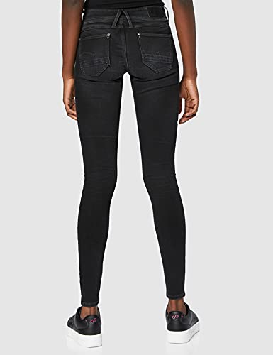 2352 4 g star raw damen lynn mid wais | G-STAR RAW Damen Lynn Mid Waist Super Skinny Jeans, Grau (Dusty Grey B732-A799), 27W / 30L