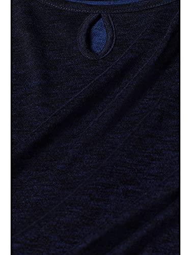 2391 4 esprit damen 998ee1k811 langar | ESPRIT Damen 998Ee1K811 Langarmshirt, Blau (Navy 400), Large (Herstellergröße:L)