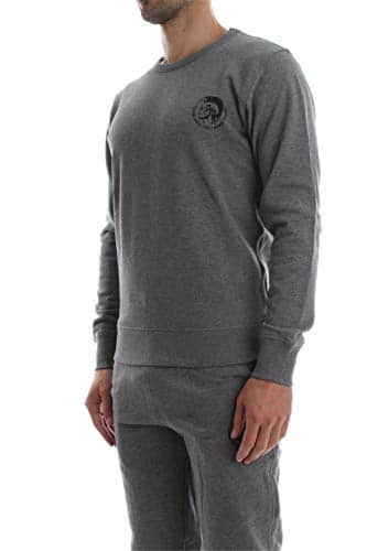 2433 2 diesel herren umlt willy sweat | Diesel Herren Umlt-willy Sweatshirt, Grau (Grey Mélange 96k-0cand), X-Small