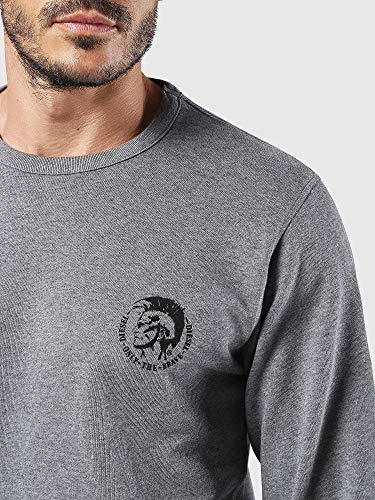 2433 9 diesel herren umlt willy sweat | Diesel Herren Umlt-willy Sweatshirt, Grau (Grey Mélange 96k-0cand), X-Small