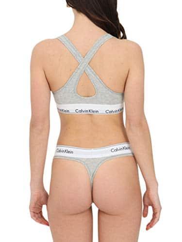 2524 3 calvin klein damen bustier bra | Calvin Klein Damen Bustier Bralette Lift BH, Grau (Grey Heather 020), M