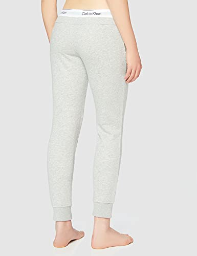 2526 4 calvin klein damen bottom pant | Calvin Klein Damen Bottom Pant Jogger Sporthose, Grau (Grey Heather 020), W(Herstellergröße: S)