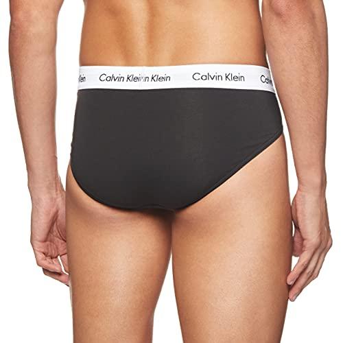 2527 2 calvin klein underwear herren   Calvin Klein Underwear Herren Cotton Stretch Slip 3er Pack, Gr. Large, Schwarz (BLACK 001)