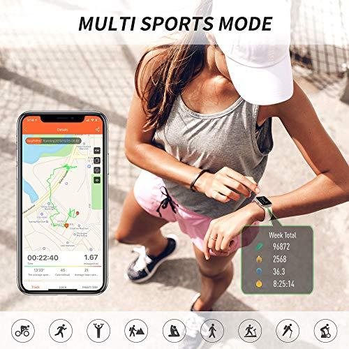 2756 2 grde smartwatch damen smartwat   GRDE Smartwatch Damen Smartwatch Bluetooth 1.3 Zoll Voll Touchscreen Fitness Armband Sportuhr 5ATM Wasserdicht Fitness Tracker mit Pulsuhr Schrittzähler Musiksteuerung Stoppuhr Anruf SNS Smart Watch