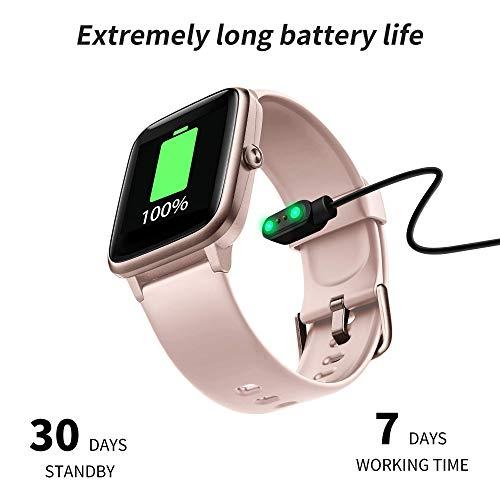 2756 6 grde smartwatch damen smartwat   GRDE Smartwatch Damen Smartwatch Bluetooth 1.3 Zoll Voll Touchscreen Fitness Armband Sportuhr 5ATM Wasserdicht Fitness Tracker mit Pulsuhr Schrittzähler Musiksteuerung Stoppuhr Anruf SNS Smart Watch