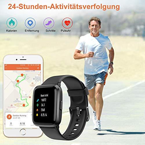 2781 2 yamay smartwatchfitness armba | YAMAY Smartwatch,Fitness Armbanduhr mit Blutdruck Messgeräte,Pulsoximeter,Pulsuhren Fitness Uhr Wasserdicht IP68 Fitness Tracker Schrittzähler Uhr für Damen Herren Smart Watch für iOS Android Handy