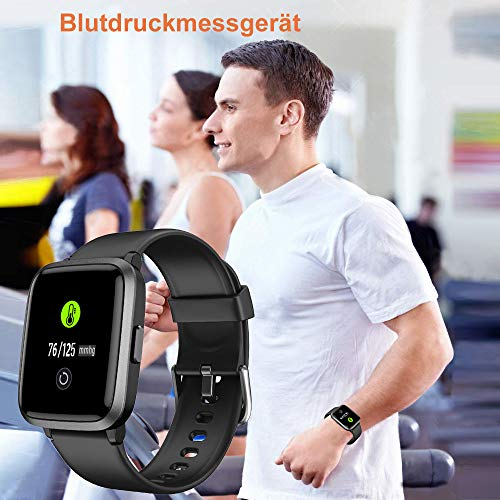 2781 5 yamay smartwatchfitness armba | YAMAY Smartwatch,Fitness Armbanduhr mit Blutdruck Messgeräte,Pulsoximeter,Pulsuhren Fitness Uhr Wasserdicht IP68 Fitness Tracker Schrittzähler Uhr für Damen Herren Smart Watch für iOS Android Handy
