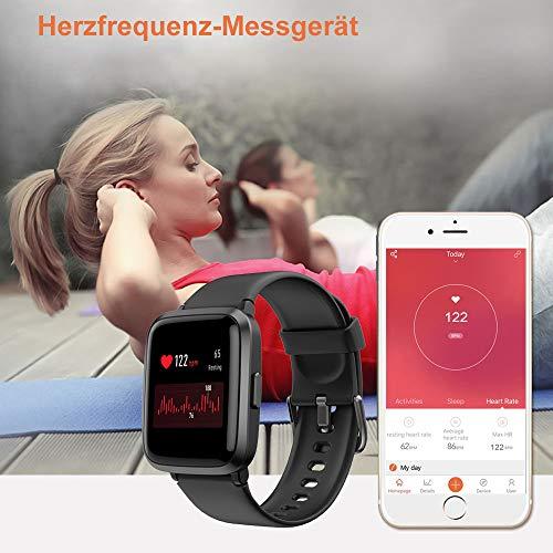 2781 6 yamay smartwatchfitness armba | YAMAY Smartwatch,Fitness Armbanduhr mit Blutdruck Messgeräte,Pulsoximeter,Pulsuhren Fitness Uhr Wasserdicht IP68 Fitness Tracker Schrittzähler Uhr für Damen Herren Smart Watch für iOS Android Handy