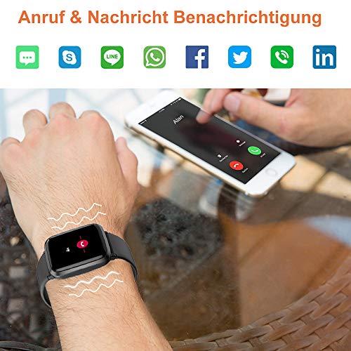 2781 7 yamay smartwatchfitness armba | YAMAY Smartwatch,Fitness Armbanduhr mit Blutdruck Messgeräte,Pulsoximeter,Pulsuhren Fitness Uhr Wasserdicht IP68 Fitness Tracker Schrittzähler Uhr für Damen Herren Smart Watch für iOS Android Handy